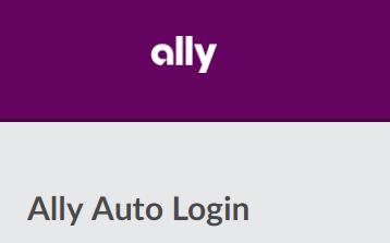 Ally Auto Login