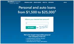 One Main Financial Login Pay Bill Auto Loan Payoff Number