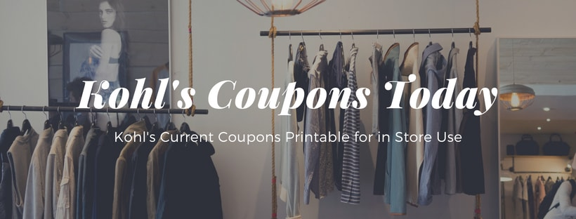 Kohl's Coupons Today in Store Printable