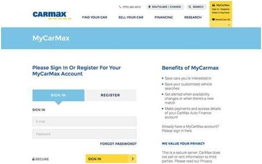 My CarMax Account Login – www.carmax.com Auto Loan Pay My Bill