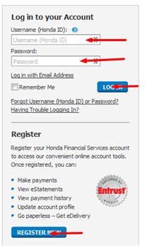 Honda Financial Services My Account Login Online Bill Payment