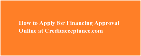 Credit Acceptance Online Application